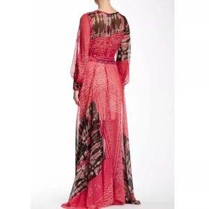 NWT Meghan LA Split Sleeve Rhubarb Maxi Dress